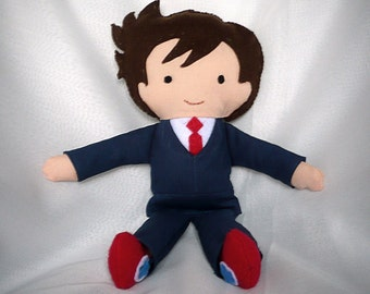 10th Doctor - felt and cotton doll