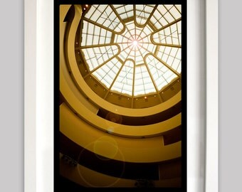 Color Photograph - The Guggenheim Building Art Museum Ceiling Architecture