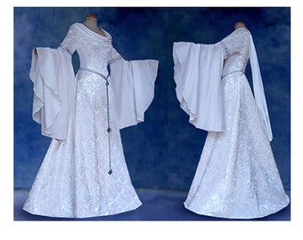 Elfenhaftes wedding gown dress INIS Elf dress of medieval Elves Eowyn Arwen