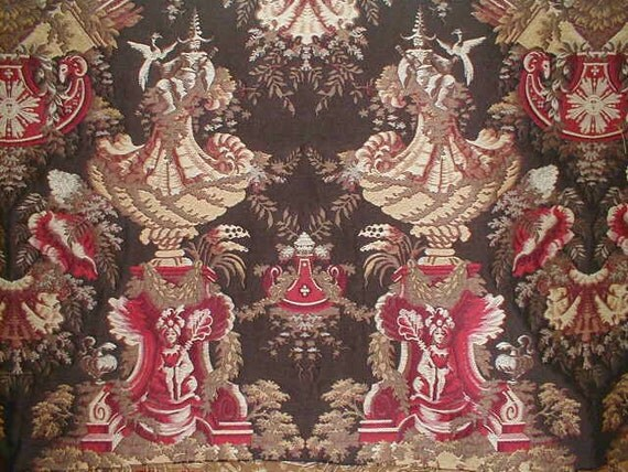 Chinoiserie Royal Medallion Fabric High End Upholstery