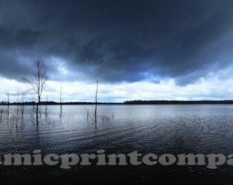 Panoramic Photo Wall Art, Australian Landscape Water Print, Lake Eppalock Victoria