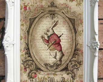 ALICE in WONDERLAND Decor.Vintage Alice in Wonderland Wall Art Alice in Wonderland Quote Alice in Wonderland Decor Vintage Alice C:A007