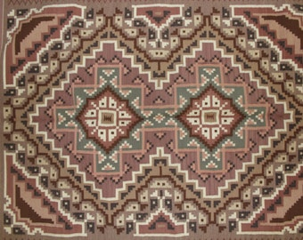 Native Rug, Native American Rugs, Exceptional Navajo Weaving by Ruth Nelwood #90