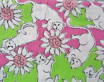 French Fried cotton poplin  9 X 18 or 18 X 18 inches ~ Lilly Pulitzer