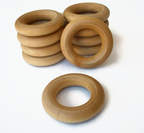 Natural 2 1 4 inch maple wood rings for crafts teethers for Wooden rings for crafts