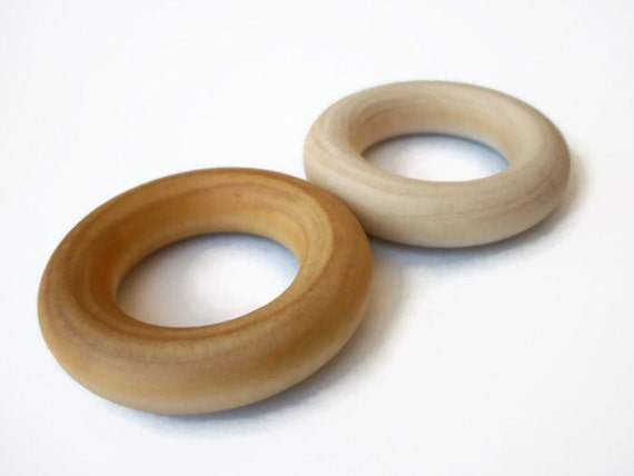 Natural 2 1 4 inch maple wooden rings for crafts teethers for Wooden rings for crafts
