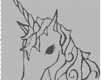 Filet Crochet Pattern - Unicorn