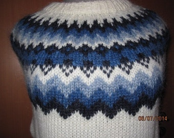 Traditional Icelandic sweater. Soft and warm Icelandic wool.