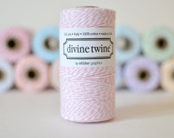 Cotton Candy Divine Twine // Pink Bakers Twine // 240 yards