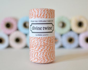 Orange Bakers Twine // Divine Twine // 240 yards