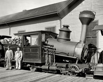 Mount Washington Cog Railway New Hampshire Mountain railway steam locomotive vintage photograph