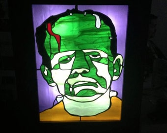 Frankenstained glass. A stained glass window of Frankenstein