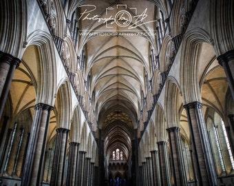 Salisbury Cathedral, Fine Art Photography Print, Sizes Vary, Sailsbury, England