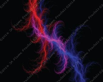 Flame Fractal Image - Lightning - Mathematical Art