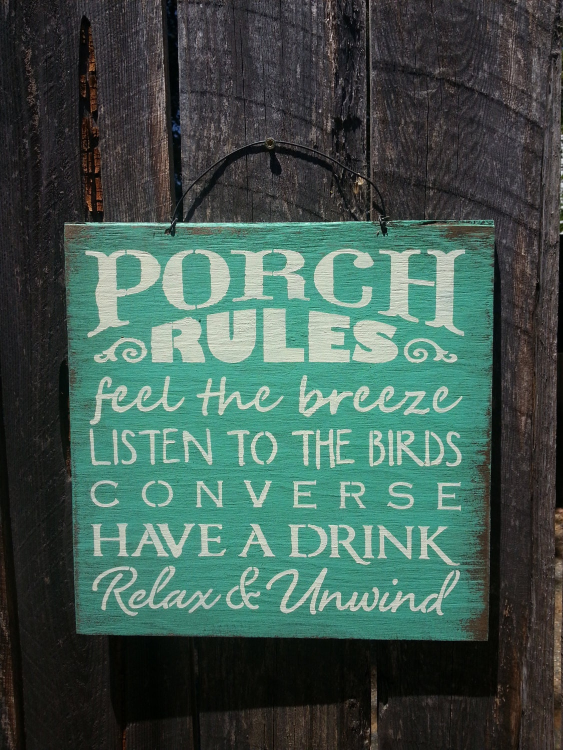 Porch Rules Porch Sign Porch Decor Patio Decor Outdoor