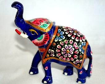 Meenakari Elephant, Minakari Elephant, Minakari Animal Artifacts, Meenakari Table Artifacts, Handcrafts Elephant, Handpainted Animal