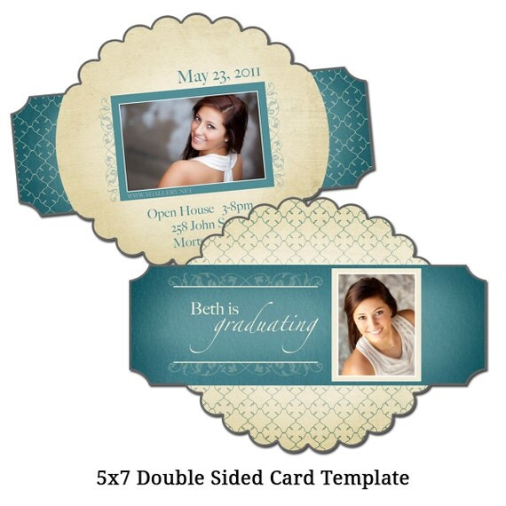 5x7 double sided card template picture perfect digital. Black Bedroom Furniture Sets. Home Design Ideas