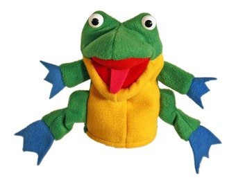 Frog hand puppet