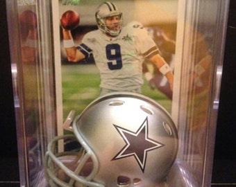 Dallas Cowboys NFL Players Mini Helmet Shadowbox w/ card