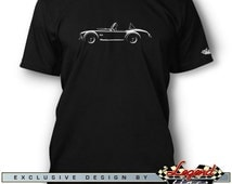 AC Cobra Replica T-Shirt for Men - Lights of Art - Multiple colors available - Size: S - 3XL - Great AC Cobra & Replica Gift by Legend Lines