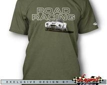AC Shelby Cobra Road Racing T-Shirt for Men - Lights of Art - Multiple colors available - Size: S - 3XL - Great AC Cobra & Replica Gift