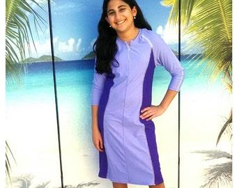 Aqua Modesta girls style 2617 swim dress
