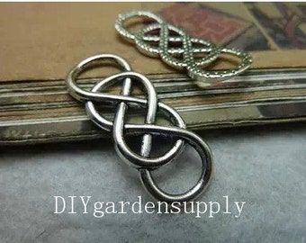 lead and nickel free--- 12x33mm antiqued silver Infinity double 8 zinc alloy charms findings