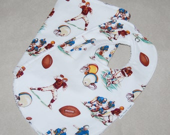 Football Bib and Burp Cloth Set - Terry Cloth or Chenille - baby boy gift - burp cloth - bib - gift set
