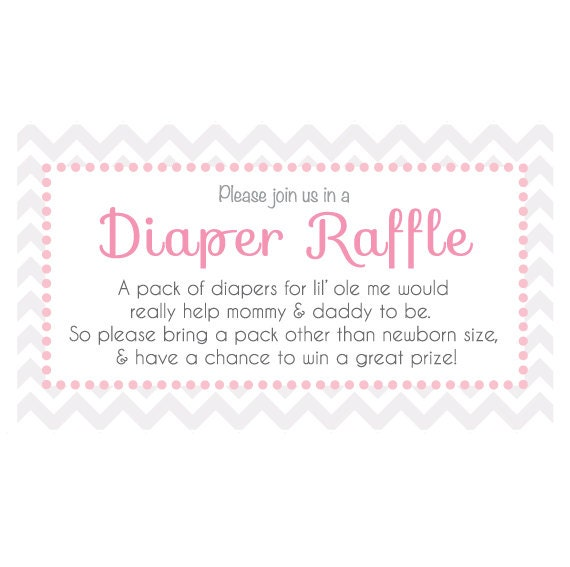 customizable baby shower diaper raffle ticket for invitiations