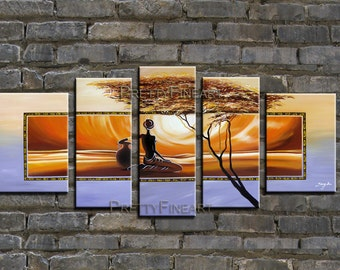 oil painting,figure painting,African art,modern canvas painting for home decor,framed,ready to hang,huge 170x80cm-NE056