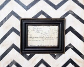 Great Chevron Print Picture Frame!