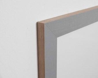 Grey 8 picture frame - 36 mm plain, multiplex