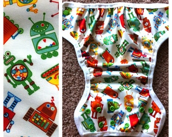 Robot PUL Diaper Cover