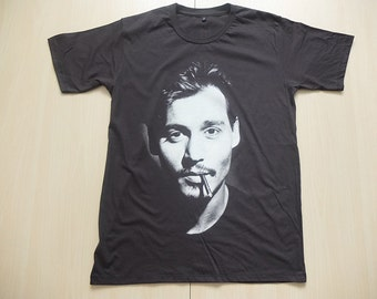 Johnny Depp Actor Film Star Rock Pop T-Shirt T-shirt Medium  M