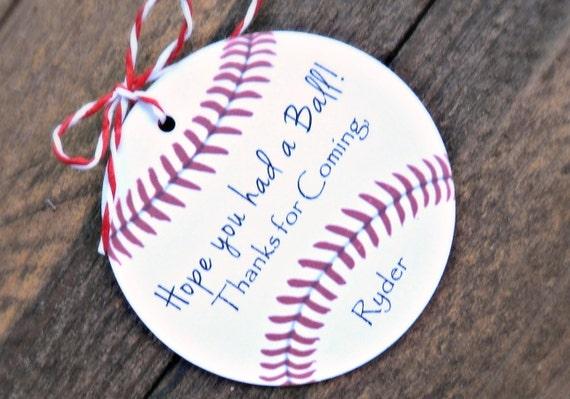 Baseball Birthday Party Favors- Hope You Had a Ball!, Boys Baseball ...