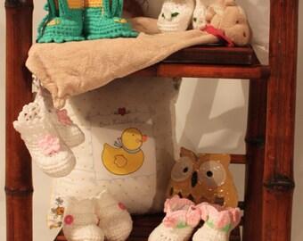 Handmade Crochet Booties regfular 12.00 now 6.00