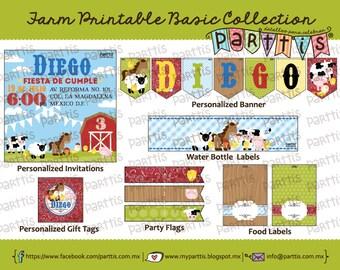 Farm Party Printable Collection BASIC