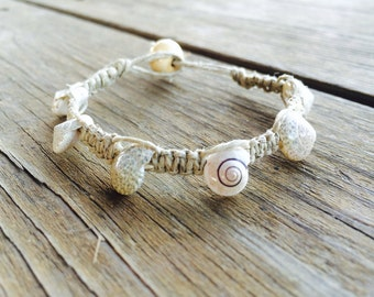 Hemp Seashell Bracelet