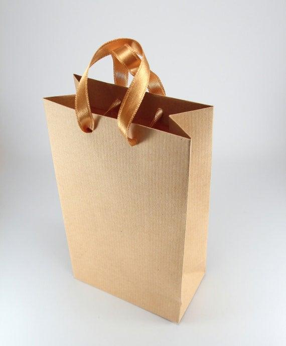 50 paper gift bags w handles kraft brown paper bags