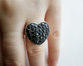 Black Spinel Sterling Silver Ring - Black Spinel - Sterling Silver - Silver Ring - Ring - Gemstone Ring - Jewellery - Jewelry