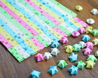 510  wishing lucky stars paper Origami Star Paper Kit  paper Strips Lucky Wishing Star paper DIY Valentine gift