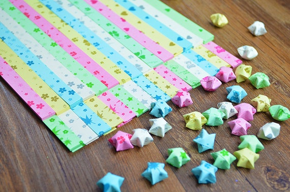 510 wishing lucky stars paper origami star paper kit paper for Diy lucky stars