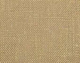 Natural Tan Burlap 100% Jute Fabric By The Yard - Perfect Decor for your Rustic Country Wedding Decorating Needs