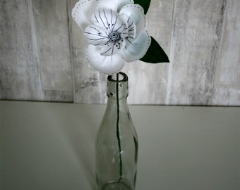 Unique, Handmade, Monochrome Single Stem Colour Pop Paper Flower. Perfect gift for loved one