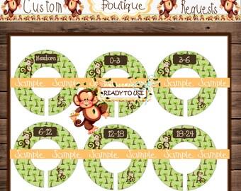 Assembled Monkeys Palm Tree Baby Closet Dividers Nursery Closet Dividers Baby Clothes Divider Custom Closet Divider {M40}
