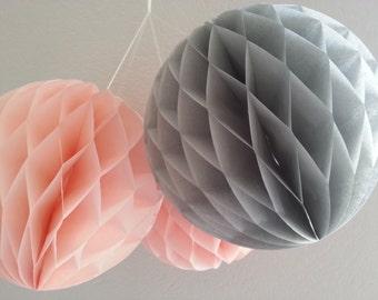 tissue paper  pom pom HONEYCOMB BALLS pom poms honeycomb paper baby mobile