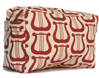 Red Lyre Cosmetic Bag