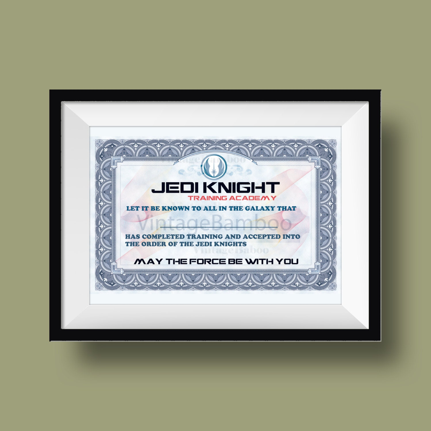 Jedi knight academy certificate images yadclub Image collections