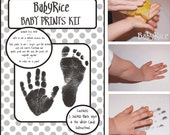 Keepsake Inkless Wipe Handprint Footprint Ink Kit Black Prints  White A4 Cards  capture your babys tiny hands and feet prints with ease!