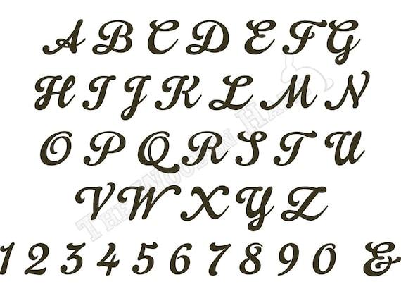 Letters Script Font Script Font Wood Letter or